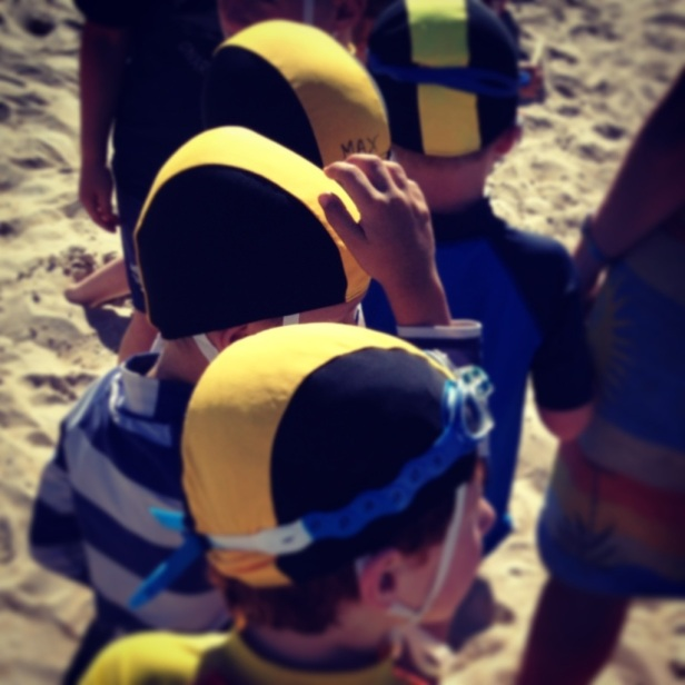 Playing lifeguards on Sunday at a 'real' beach