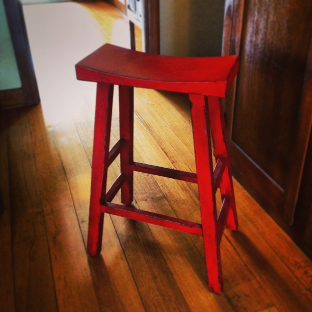 Everyone needs to waste money on a stool like this. Easy to buy once you're out on a post cancer diagnosis shopping spree.