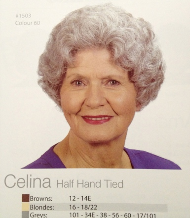 Celina warms my heart. I was hoping to try this one. The look of Dame Edna may have come to mind.