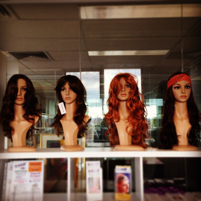 The wig room