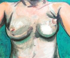 """""""Off My Chest"""" Acrylic on canvas 40 x 30 cm"""
